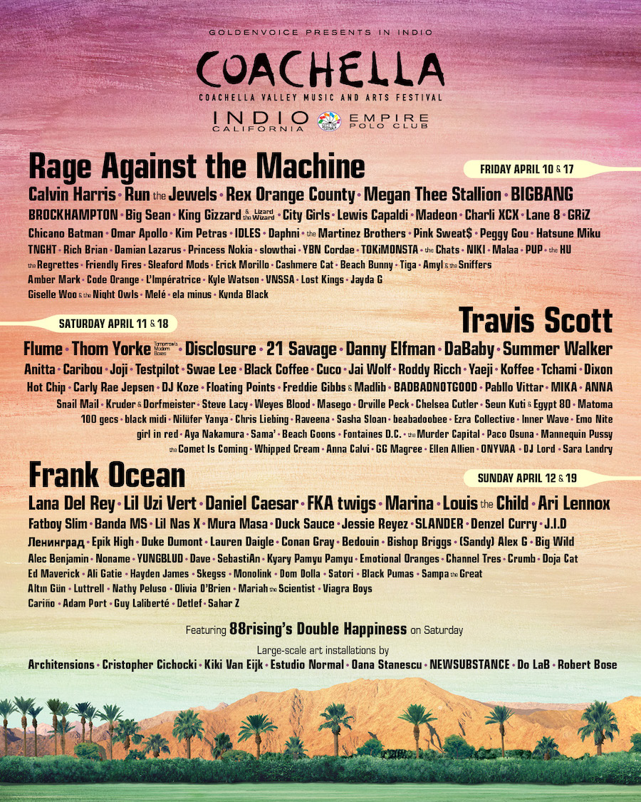 ICYMI: Coachella 2020 Line-Up Has Arrived + Ticket Info!