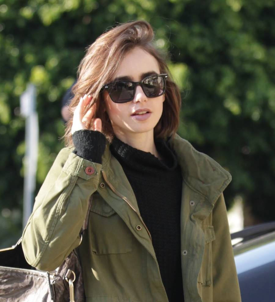 View Lily Collins Red Hair  JPG