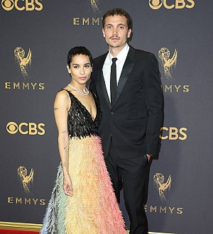 Zoe Kravitz and boyfriend Karl Glusman celebrate one year anniversary during Emmys