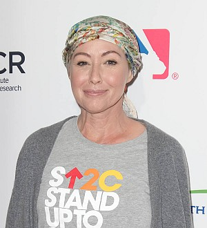 Shannen Doherty and husband show off matching hairdos