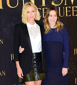 Charlize Theron throws baby shower for Emily Blunt