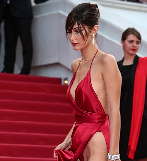 Bella Hadid exposes her groin on Cannes red carpet