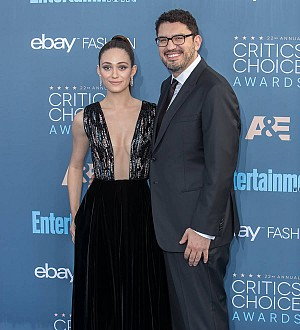 Emmy Rossum dazzles in embroidered Carolina Herrera at weekend wedding