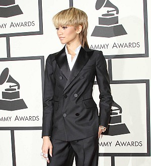 Zendaya rocks tuxedo and mullet at the Grammys
