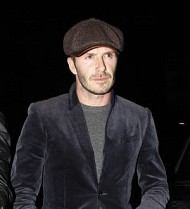 David Beckham braves blizzard chaos for wife's fashion show