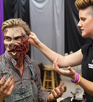 Derek Hough Transforms for Knott's Scary Farm Celeb Scare Campaign!