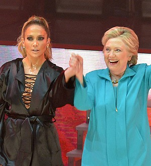 Jennifer Lopez: 'Hillary Clinton is a great mum'