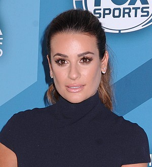 Lea Michele tries to conceal her Glee over new boyfriend Robert Buckley