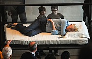 Tilda Swinton Naps In a Glass Box - For Art!