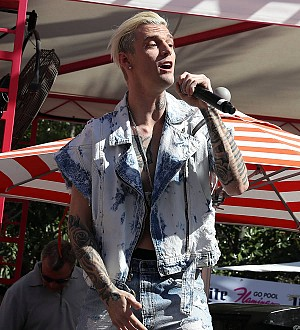 Aaron Carter on the road to recovery after mystery surgery