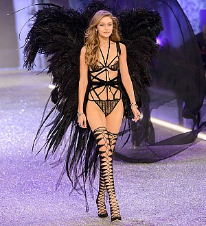 Gigi Hadid narrowly avoided wardrobe malfunction on Victoria's Secret runway