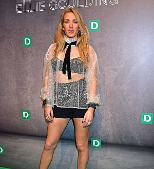 Ellie Goulding Wears Head to Toe Black When Making Music