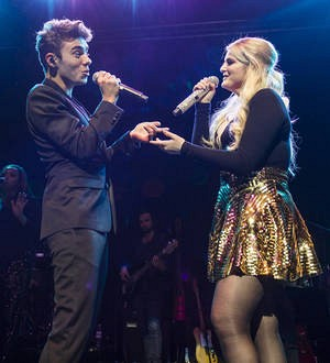 Nathan Sykes makes surprise appearance at Meghan Trainor gig