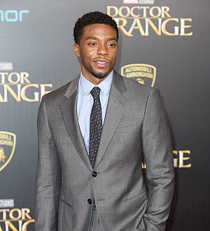 Chadwick Boseman's parents give feedback during film set visits