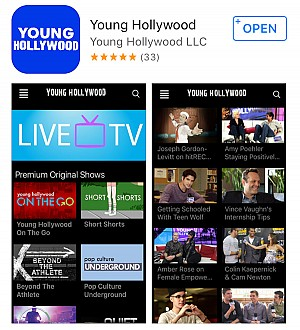 Young Hollywood Launches New iPhone/iPad App!