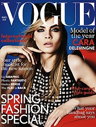 Model Cara Delevinge Catwalking to the Top