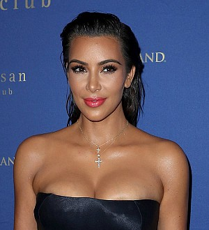 Kim Kardashian visits secretive Kanye West exhibition