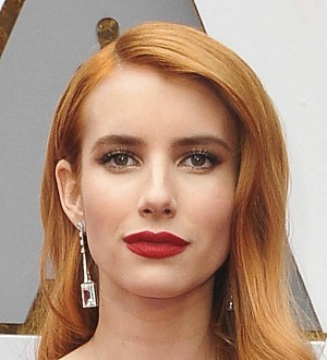 Emma Roberts gets scared at her own movies