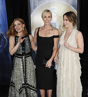 Emily Blunt and Charlize Theron stunned by Jessica Chastain's all-action talents