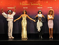 Whitney Houston Immortalized in Wax, x4