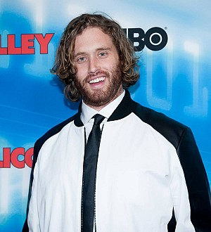 T.J. Miller parasails into Cannes Film Festival to promote The Emoji Movie