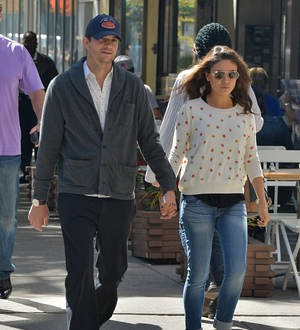 Ashton Kutcher and Mila Kunis make first public appearance with children