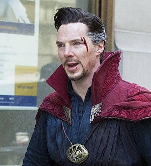 Benedict Cumberbatch pops into store dressed as Doctor Strange