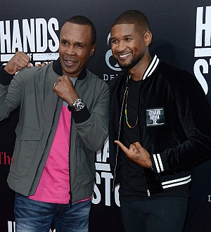 Usher contacted Sugar Ray Leonard before accepting Hands of Stone role