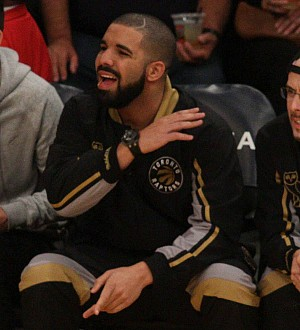 Drake 'interferes' in Raptors basketball game