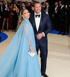 Jennifer Lopez & Alex Rodriguez attend first wedding as a couple