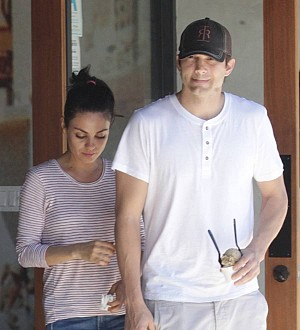 Mila Kunis: 'I can't watch really bad TV when Ashton's at home'